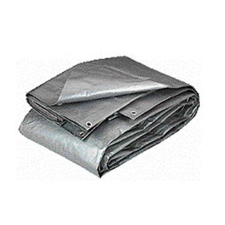 Hygrade/LDF 23300249 Tarp Heavy Duty Polyethylene 10-Mil 12Ft X 16Ft Silver