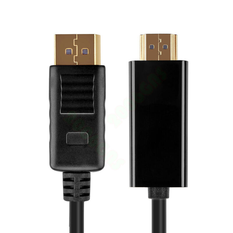 Brand New 6 FT F 1.8 Meter M DisplayPort to HDMI Cable Black 1080P HD