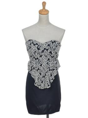 64e8e856709 Product Image S M Fit Elegant Black Flower Detailed Formal Dinner Party  Dress