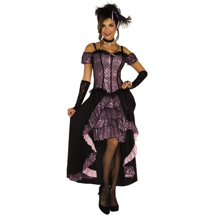 Dance Hall Mistress Women Wild West Saloon Burlesque Costume-Std