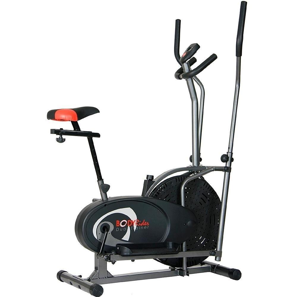 Body Flex Cardio Dual Trainer Elliptical Bike 2 in 1 Cros...