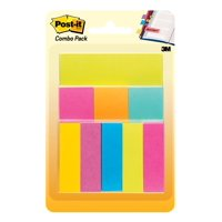 Post-it Combo Pack, 1 Post-it Pad, 8 Pagemarkers, Multiple Sizes