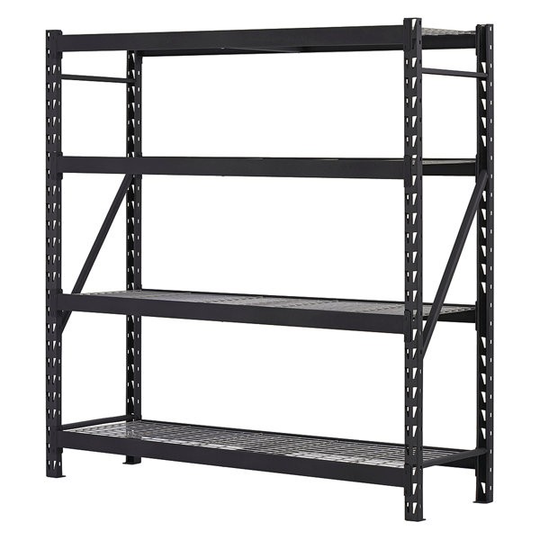 edsal bulk storage rack starter unit black powder coated steel erz782478w4 - Edsal