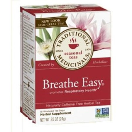 Breathe Easy Herbal Tea - 16 Tea Bags, One of Traditional Medicinals