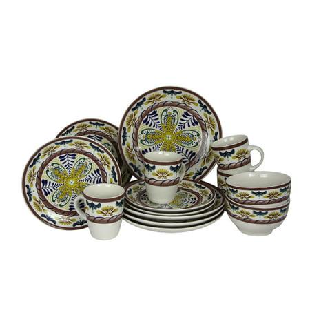 Elama Countryside Sunrise 16-Piece Stoneware Dinnerware Set