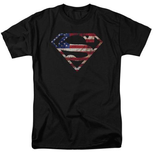 Superman Super Patriot Mens Short Sleeve Shirt Black 2X