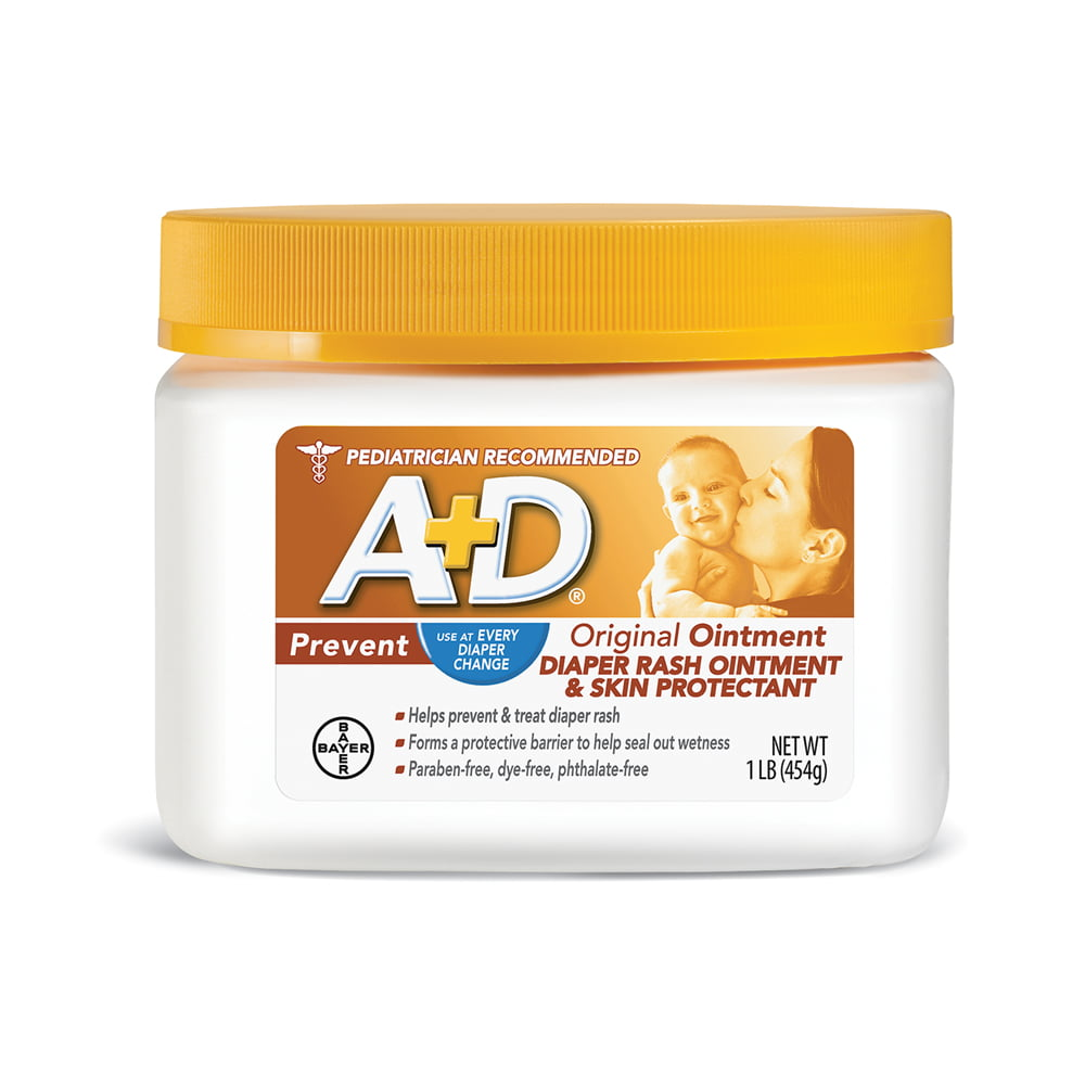 A+D Original Diaper Rash Ointment, Skin Protectant, 1 Pound Jar by A%2BD