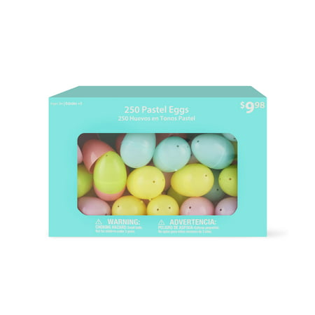 Way To Celebrate Easter Eggs, Pastel, 250 Count - Large Easter Eggs