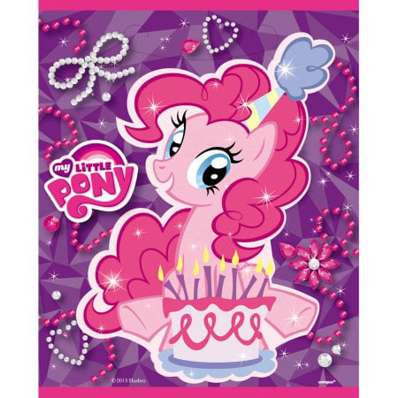 (3 Pack) My Little Pony Goodie Bags, 8ct - My Little Pony Party Tote Bag