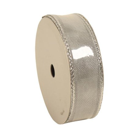 JAM Paper Wire Edged Ribbon, 1 Wide x 3 Yards, Silver, Rolls sold individually