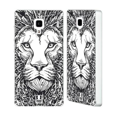 Head Case Designs Doodle Animal Faces Silver Aluminium Bumper Slider Case For Huawei Xiaomi Phones