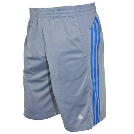 Adidas Climalite Mens Mesh Short Grey/blue Stripe (2xl)
