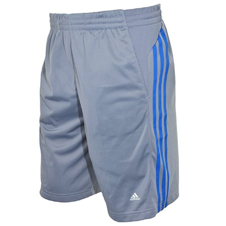 Adidas Climalite Mens Mesh Short Grey/blue Stripe - Response Climalite Short