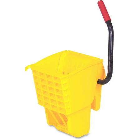 Rubbermaid Commercial, RCP612788YW, WaveBrake Bucket Side Press Wringer, 1 Each, Yellow