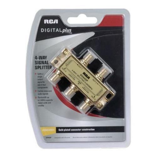 RCA Digital Plus 2.4GHz Directional Splitter Gold 4-Way
