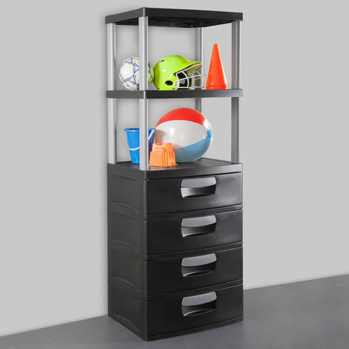 Sterilite 3-Shelf & 4-Drawer Unit Value Bundle