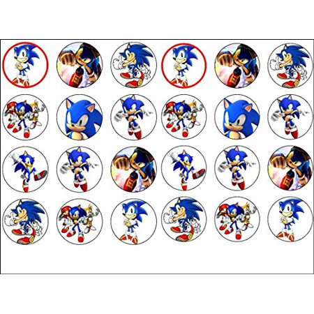 24 Sonic the Hedgehog Edible Frosting Image Cupcake Toppers - Frosting Cupcakes For Halloween