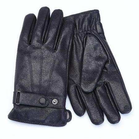 Royce Leather Premium Lambskin Leather Cellphone Tablet Touchscreen Gloves, Men's Medium, Black - image 1 of 1
