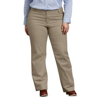 Dickies Women's Plus Size Relaxed Straight Stretch Twill Pant