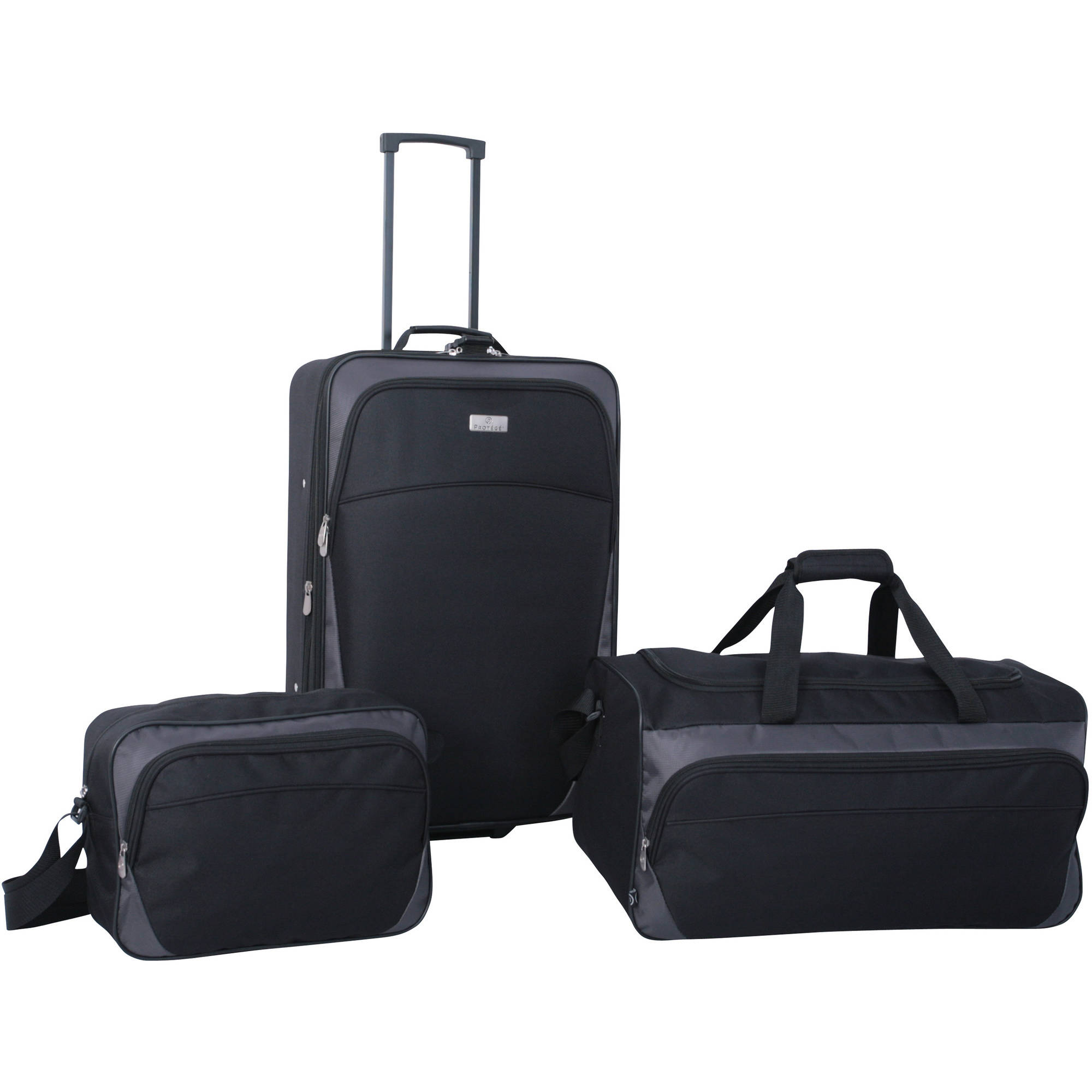Protege 3-Piece Luggage Set, Black - Walmart.com
