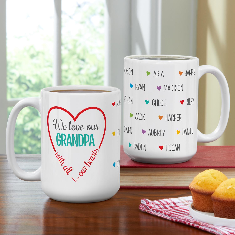 Personalized Loving Hearts Coffee Mug