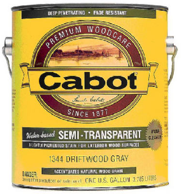 1-Gallon Semi-Transparent Deep Base Exterior Water-Based Stain - Pack of 4