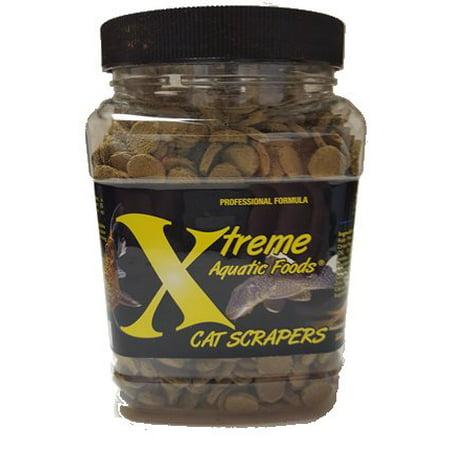 Xtreme Aquatic Cat Scrapers Sinking Algae Wafers Fish Food, 18 -