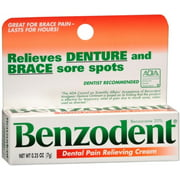 2 Pack - Benzodent Dental Pain Relieving Cream 0.25 oz