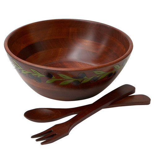 Woodard & Charles Salad With Style 3 Piece Provence Salad Bowl Salad Set