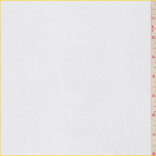 White Polyester Jersey Knit, Fabric By the Yard