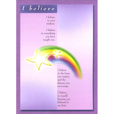 Recycled Paper Greetings I Believe / Mother Mother's Day Card (Believe Greeting Cards)