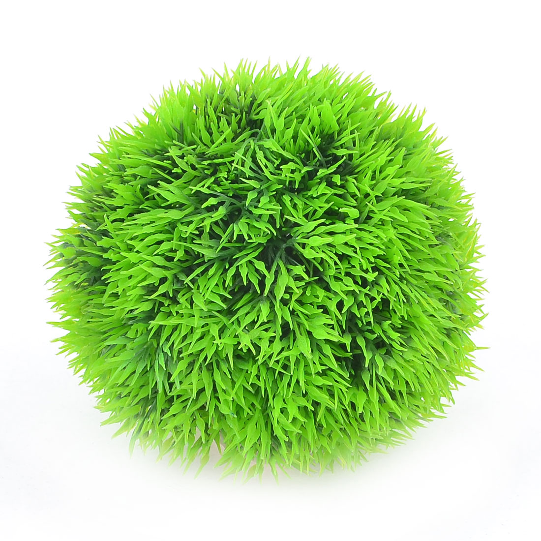 Green Artificial Aquascaping Weeds Grass Ball 9.5cm Dia for Fish Tank
