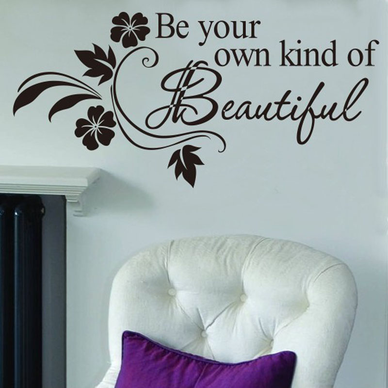 Decals DIY Be Your Own Kind Beautiful Flower Wall Sticker Decor Decal