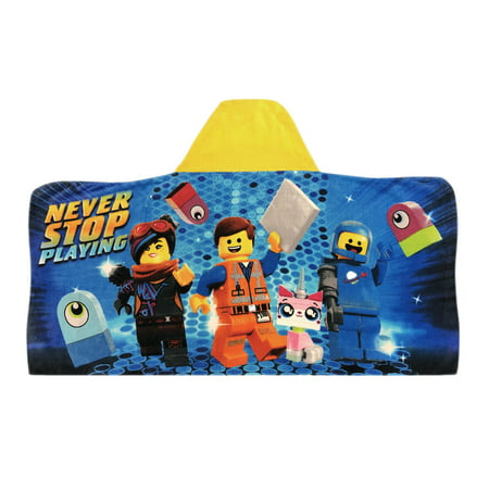 The LEGO Movie 2 Hooded Bath Towel, Kids Bath, Play to Build