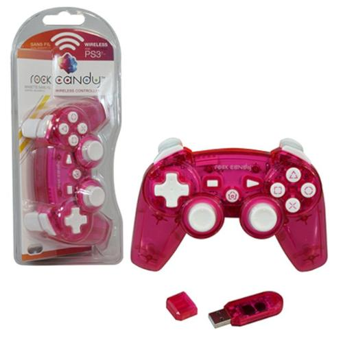 PDP PlayStation 3 Rock Candy Wireless Controller, Pink