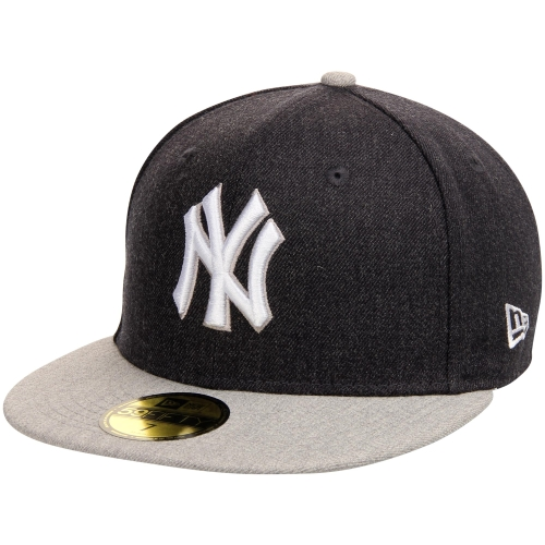 New York Yankees New Era Heather Action 59FIFTY Fitted Hat - Heathered Black