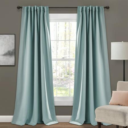 Lush Decor Insulated Back Tab Blackout Window Curtain Panels ()