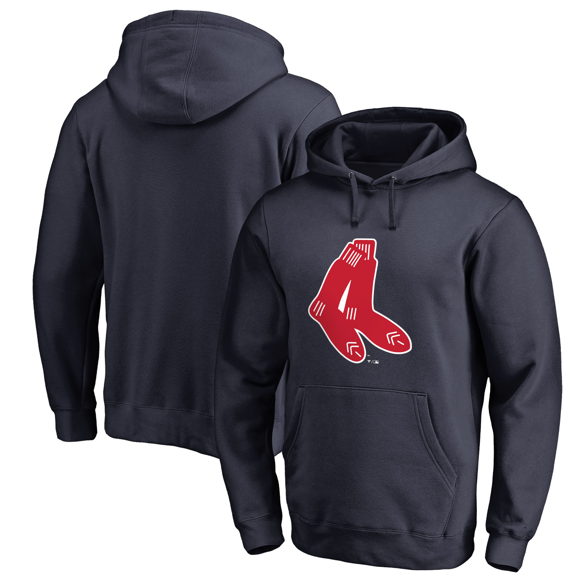 Boston Red Sox Fanatics Branded Cooperstown Collection Huntington Pullover Hoodie - Navy