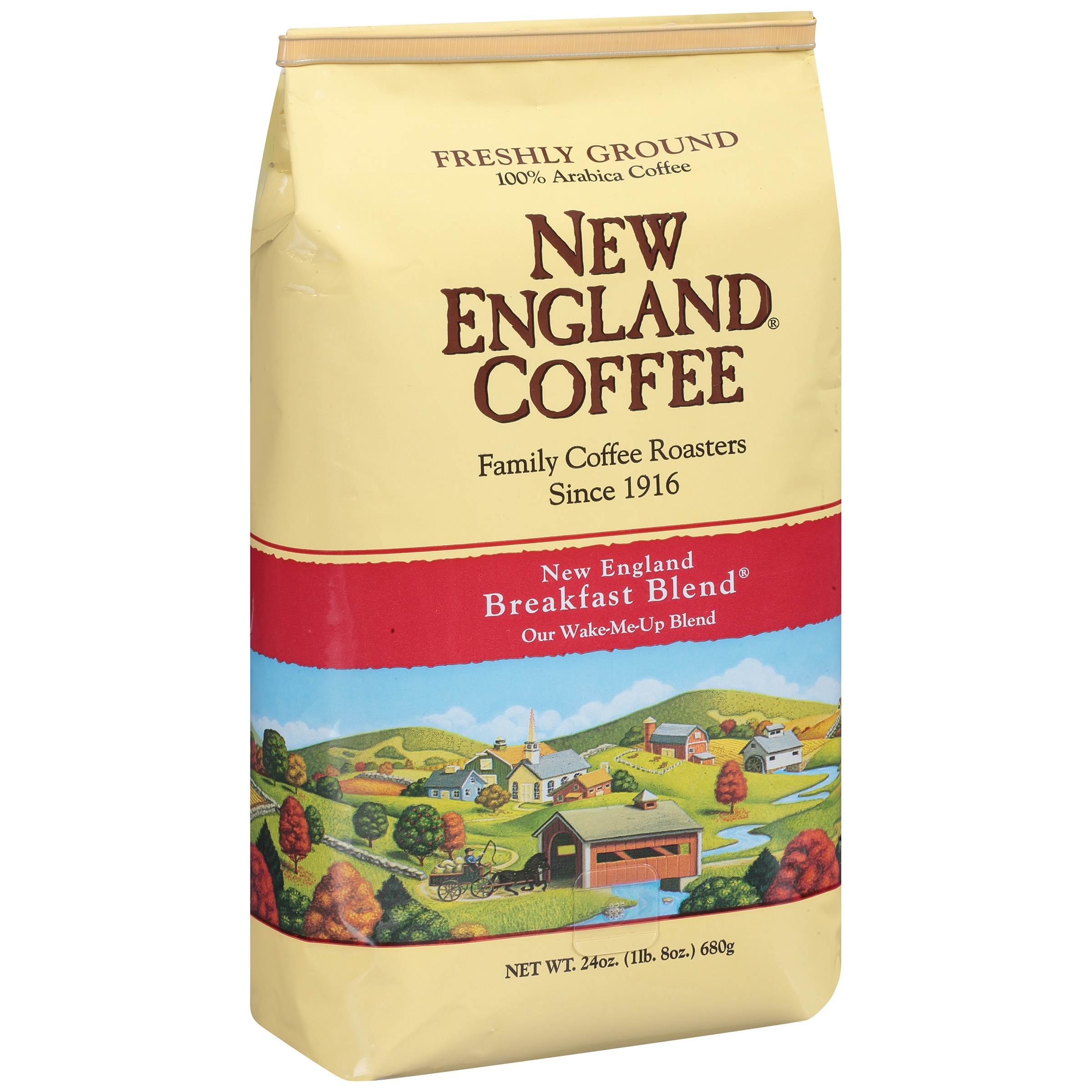 New England Coffee New England Breakfast Blend Ground 100% Arabica Coffee, 24.0 OZ