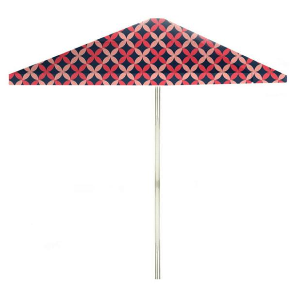 8 Ft Aluminum Patterned Patio Umbrella