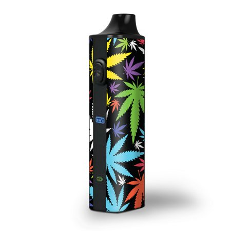 Skin Decal for Pulsar APX Herb Vape / Colorful Weed Leaves