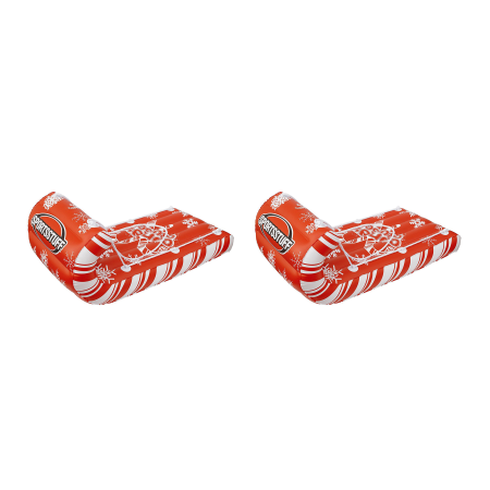 Sportsstuff Giant Inflatable Candy Cane Cruiser Snow Tube Raft Sled (2 Pack)
