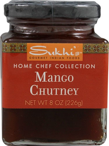 Gourmet Indian Food Mango Chutney 8 Ounces (Case of 6) by Sukhi's