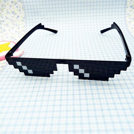 Thug Life Glasses 8 Bit Pixel Deal With IT Sunglasses Unisex Sunglasses Toy