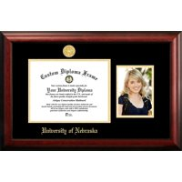 University of Nebraska 11w x 8.5h Gold Embossed Diploma Frame with 5 x7 Portrait