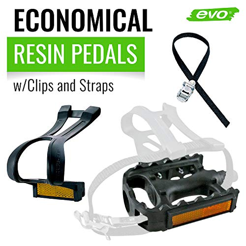 EVO Adventure Plus Pedals w// Toe Clips /& Straps Bike