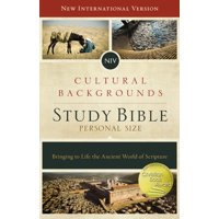 NIV, Cultural Backgrounds Study Bible, Personal Size, Hardcover, Red Letter Edition: Bringing to Life the Ancient World of Scripture (Hardcover)