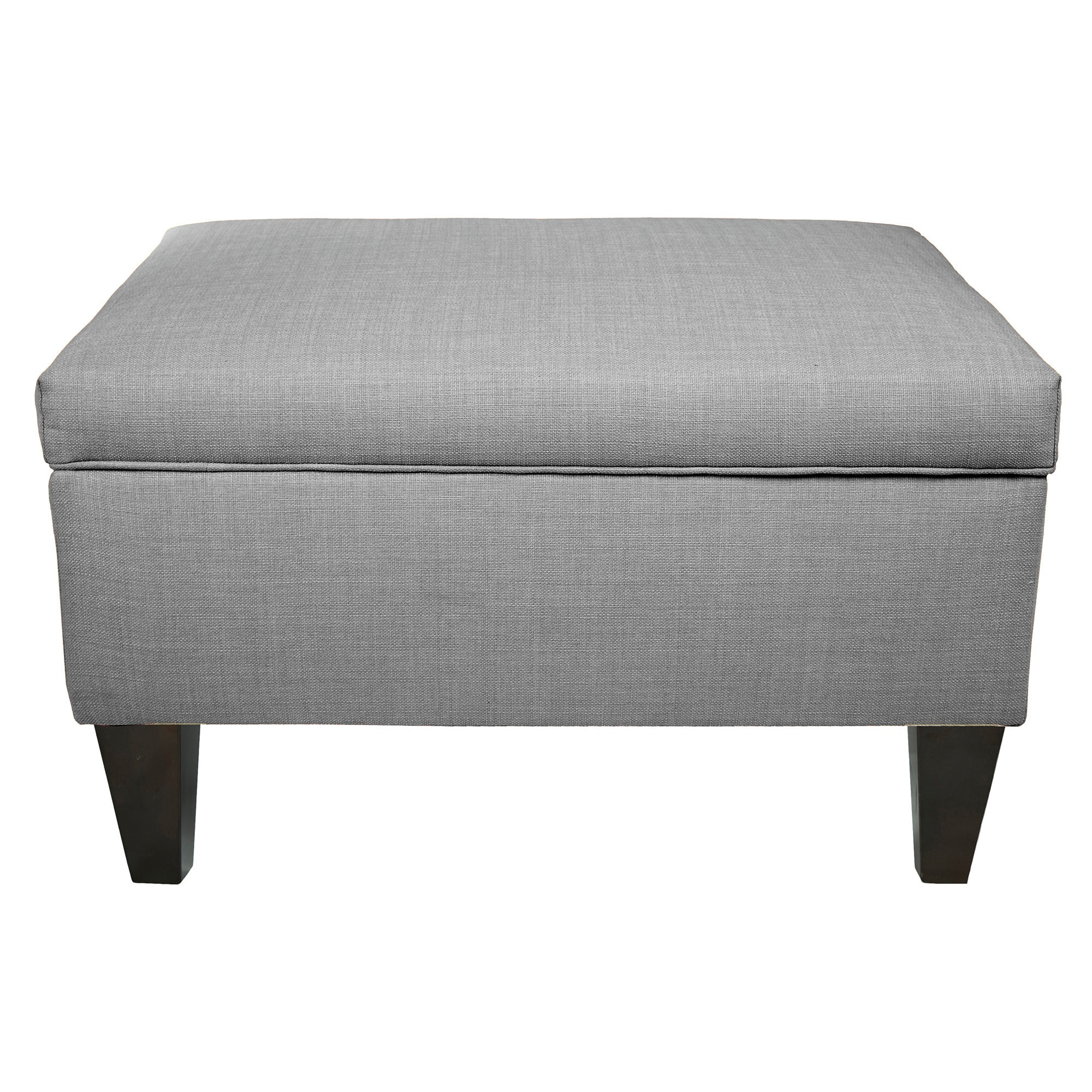 MJL Furniture BROOKLYN Wood Polyester Upholstered Storage Ottoman. Write A  Review