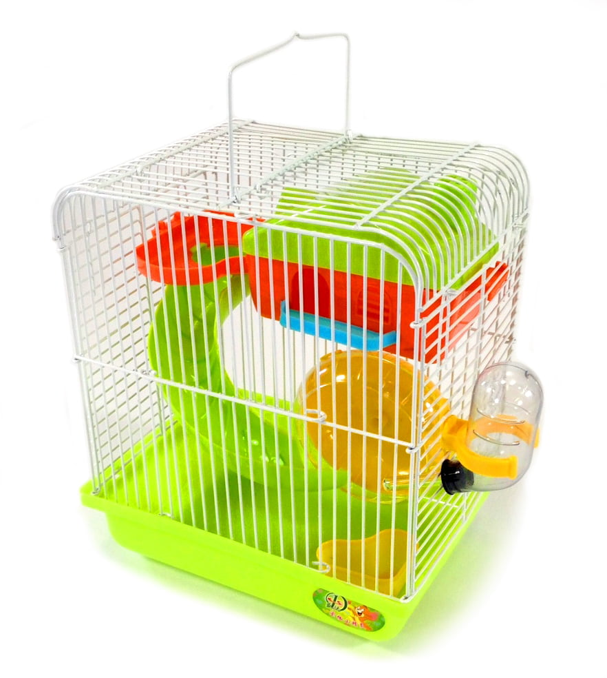 Hamster Small Rodent Cage Habitat Playhouse Gerbil Mouse Mice + Accessories New by