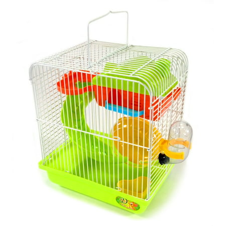 Hamster Gerbil Mouse Cage - Hamster Small Rodent Cage Habitat Playhouse Gerbil Mouse Mice + Accessories New